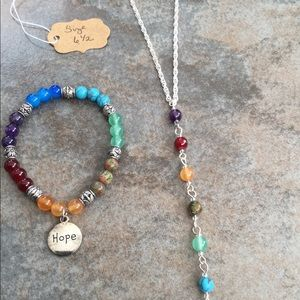 Chakra bracelet & necklace set